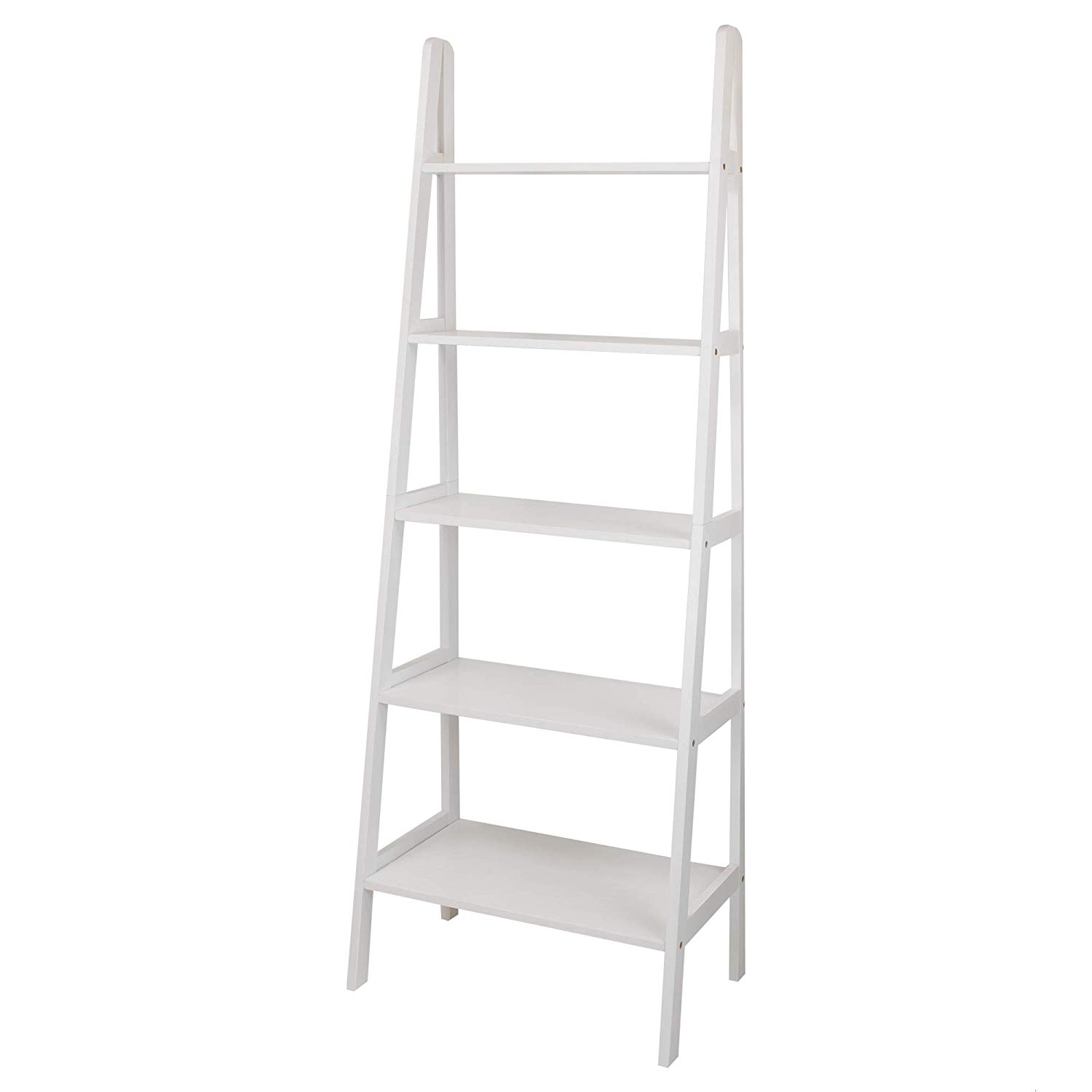 Details About Casual Home 176 51 5 Shelf Ladder Bookcase White