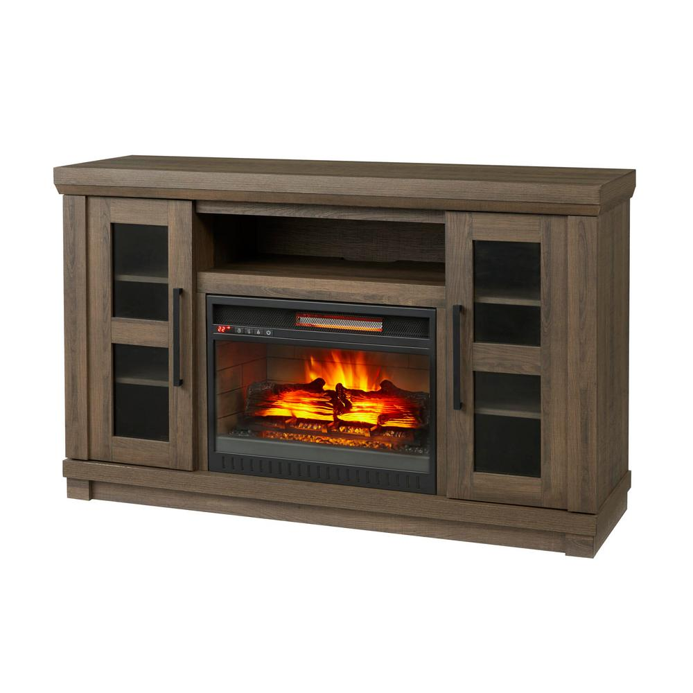 54 In Media Console Tv Stand With Infrared Electric Fireplace Remote Control Ebay