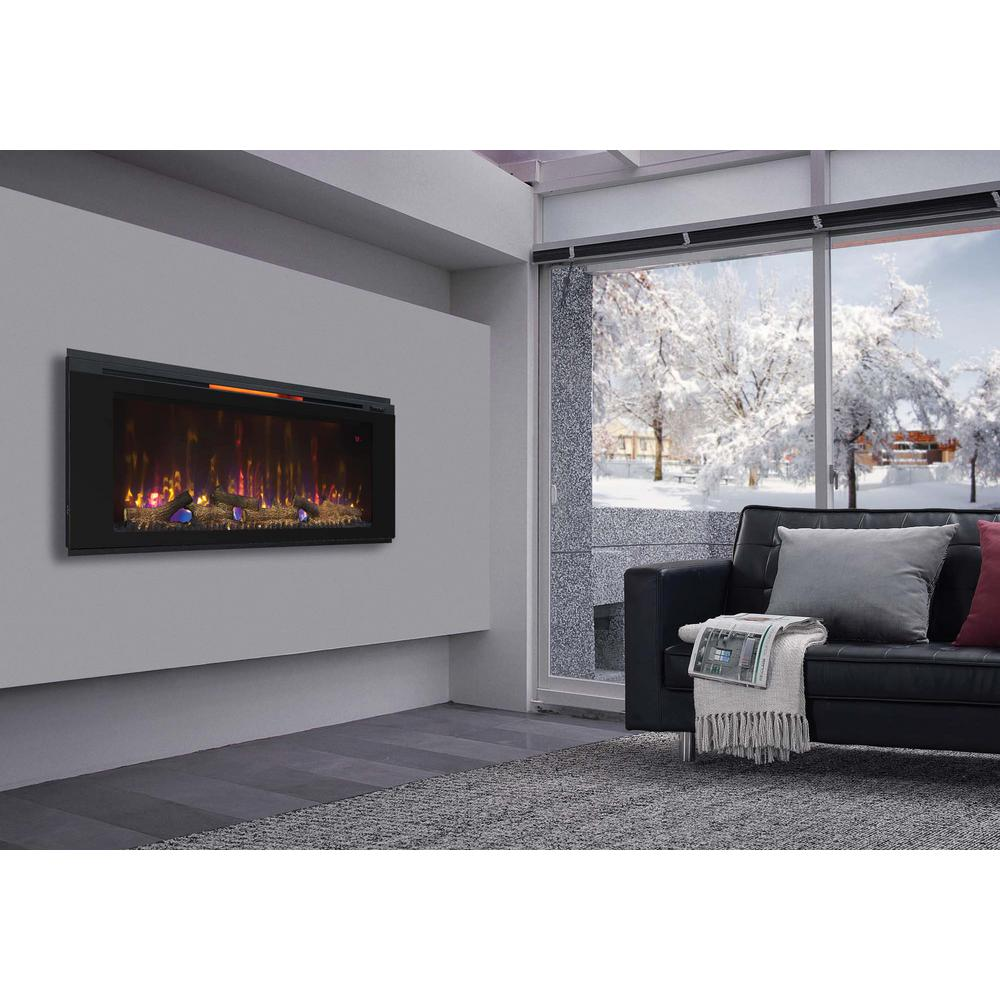 Wall Mount Electric Fireplace 120 Volt Programmable Thermostat