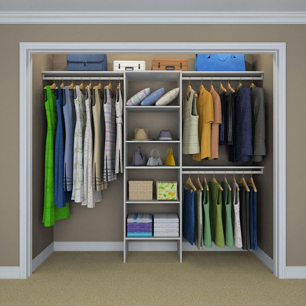 Closetmaid Selectives 83 In H X 120 W 14 5 D Basic Closet System White