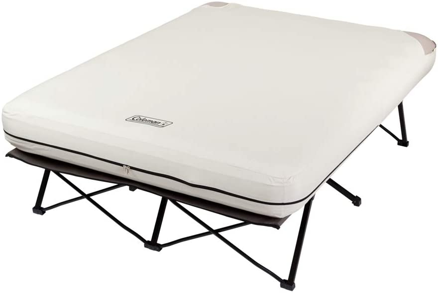 Coleman Folding Cot Air Bed Mattress Side Tables Queen ...