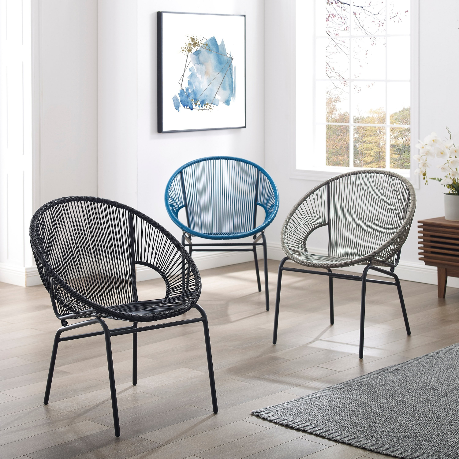 Fabulous Details About Corvus Sarcelles Woven Wicker Patio Chairs Set Of 2 Gmtry Best Dining Table And Chair Ideas Images Gmtryco