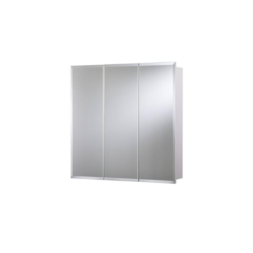 Croydex Medicine Cabinet Easy Hang Frameless Tri View Surface