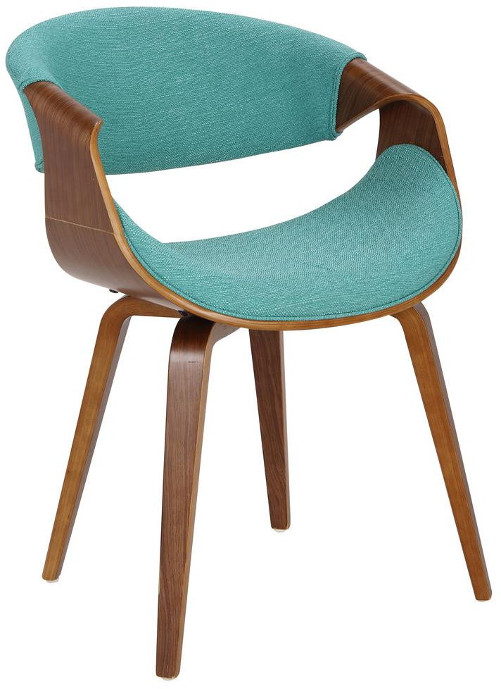 Wondrous Details About Curvo Bent Wood Walnut Teal Dining Accent Chair Blue Mid Century Modern Lamtechconsult Wood Chair Design Ideas Lamtechconsultcom