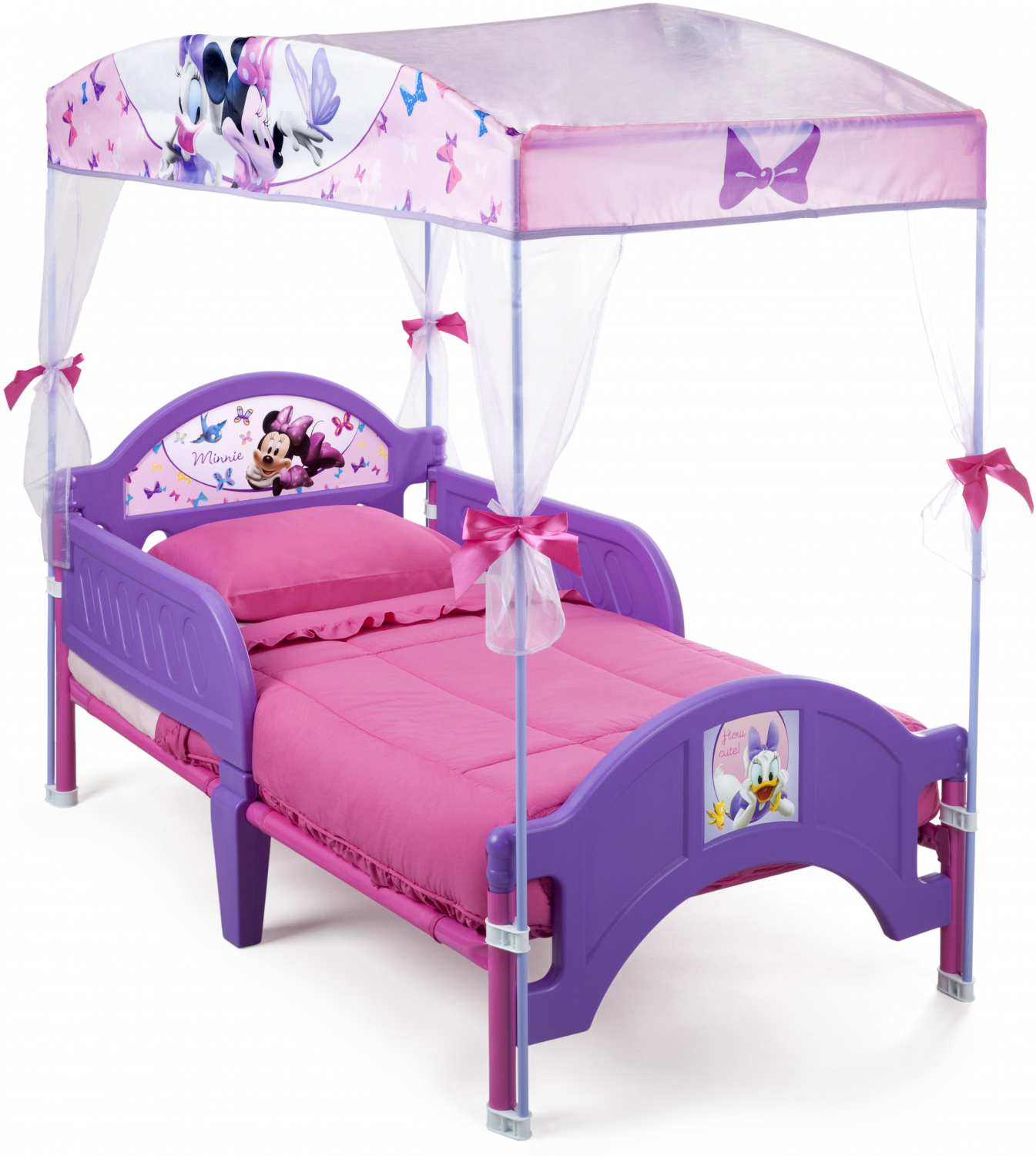 Minnie Mouse Toddler Canopy Bed Purple Girls Children Bedroom ...