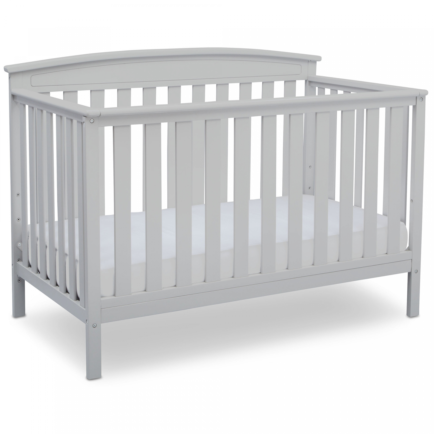 Baby Crib Convert to Full Toddler Bed White Sturdy Wood ...