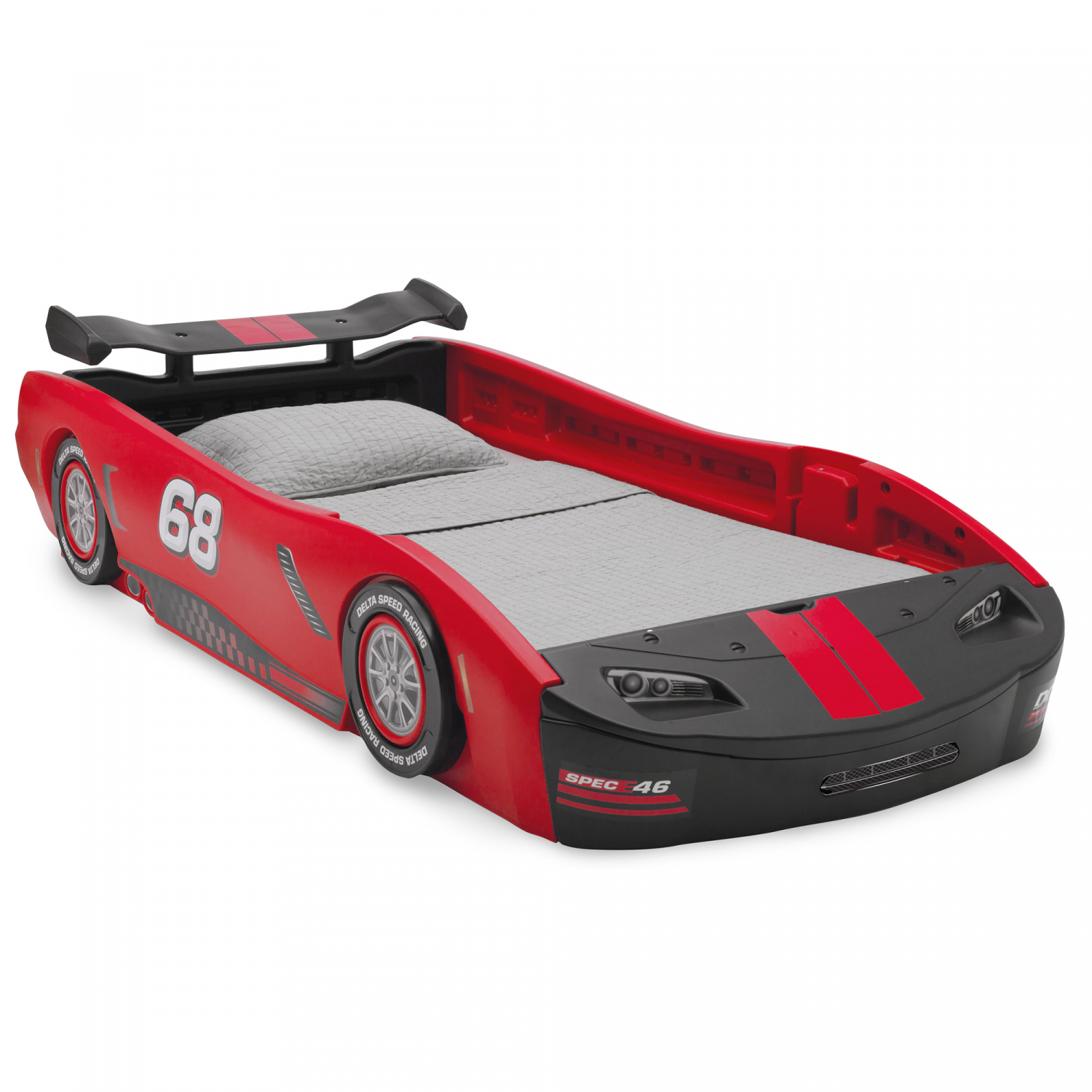Children's Turbo Race Car Twin Bed, Red (mattress not ...