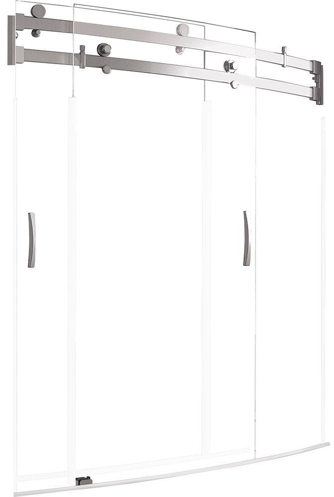 Delta Clic 400 Curve 60 In X 62 Frameless Sliding Tub Door Stainless