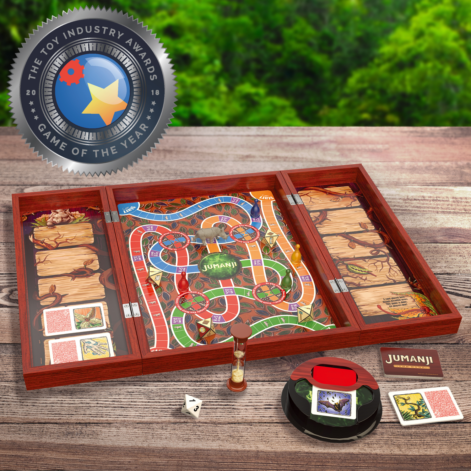 Details About Jumanji The Game In Real Wooden Box Toys Puzzles Board Games Fun Family