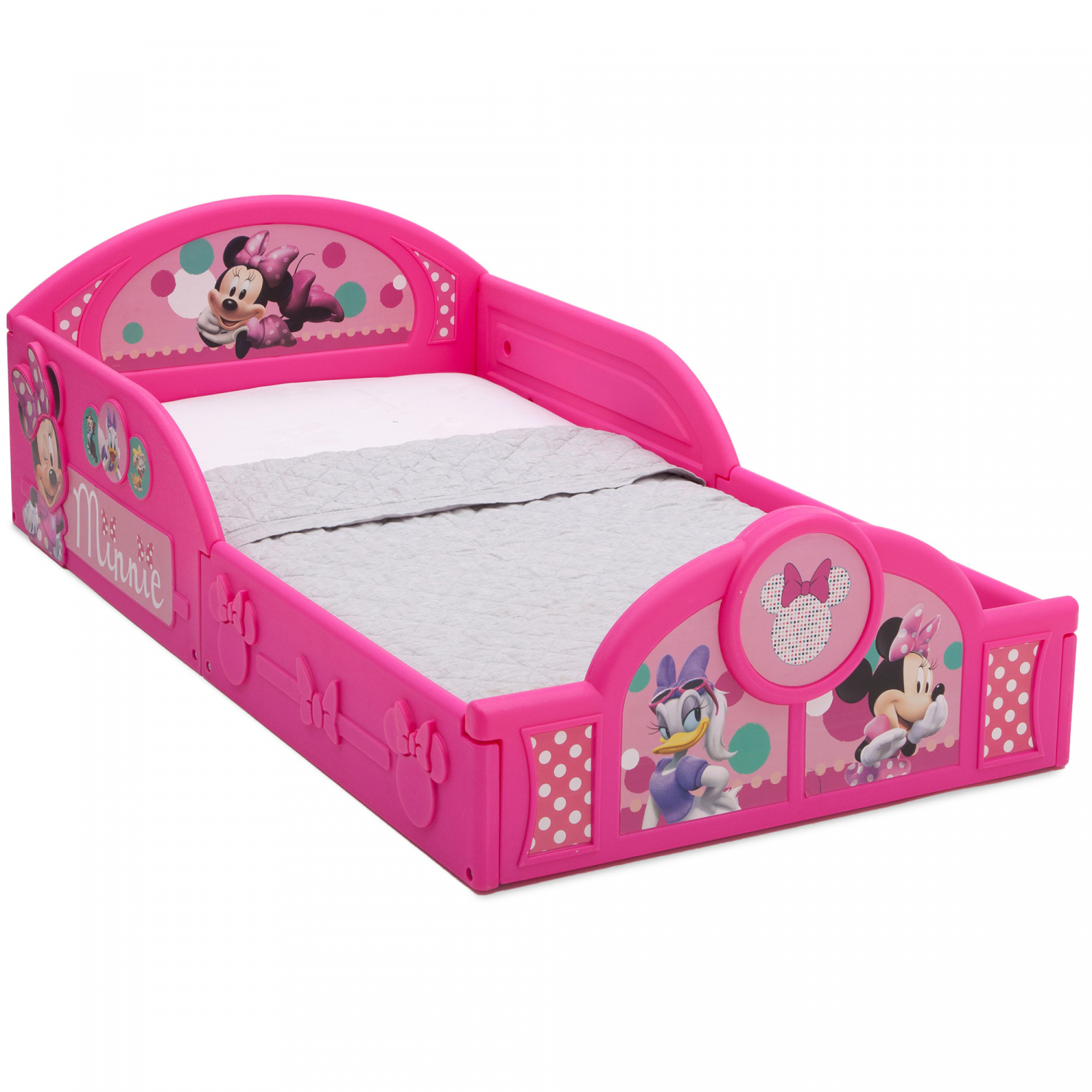 new minnie mouse plastic sleep and play toddler bed frame