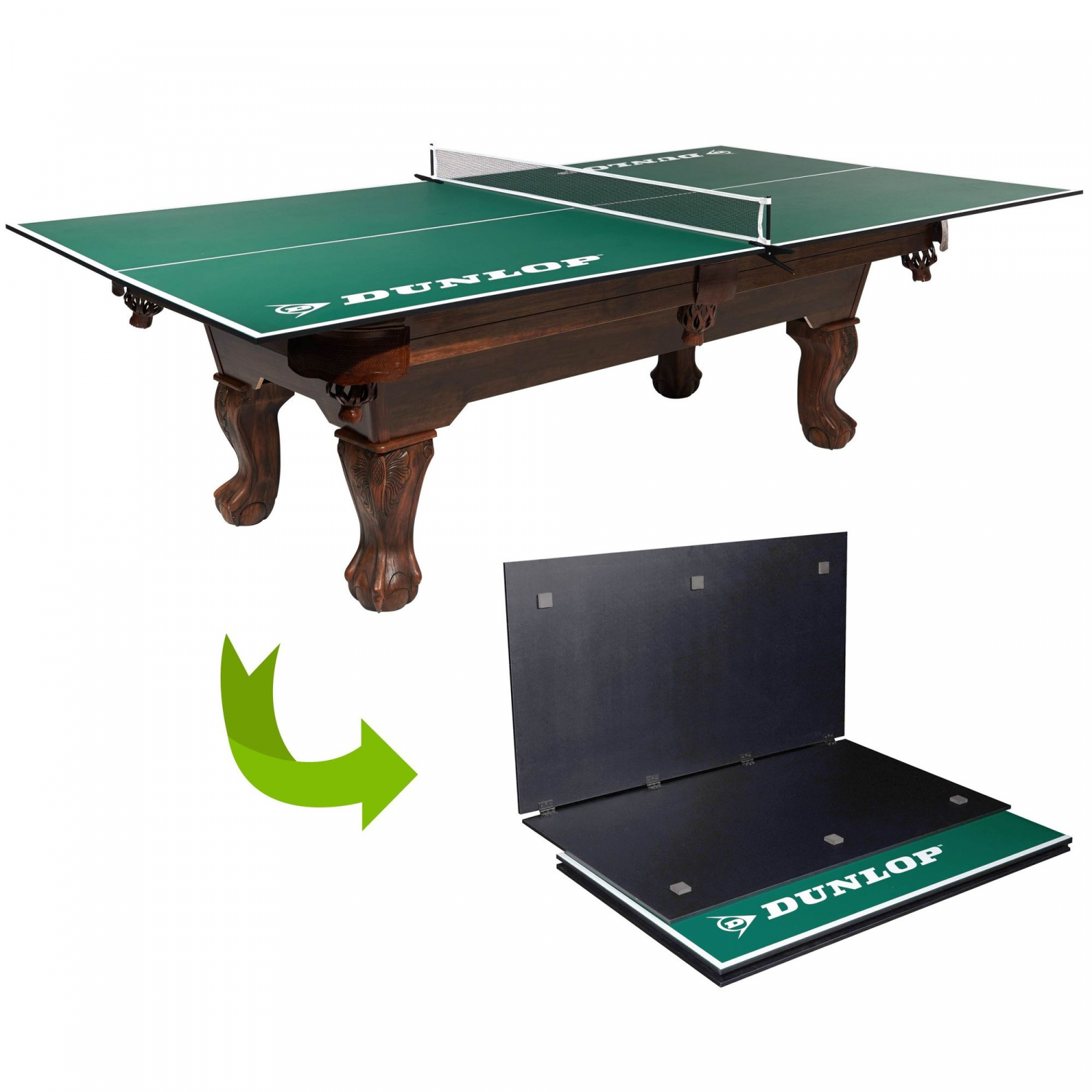 Ping Pong Table Official Size Conversion Top Fits Over Pool Table Kids Game Room 821735441421 Ebay