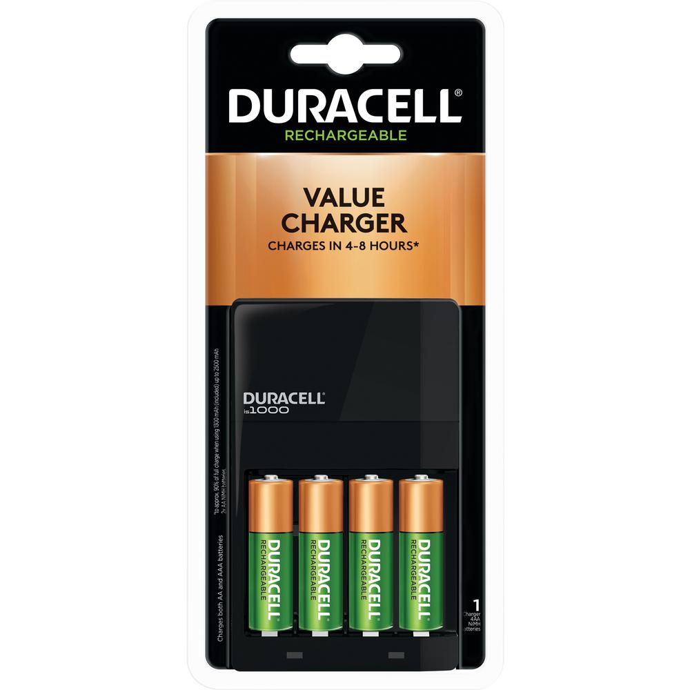 Combo Duracell Charger W 4 Aa Staycharged Battery Rechargeable Batteries Cef14 Ebay