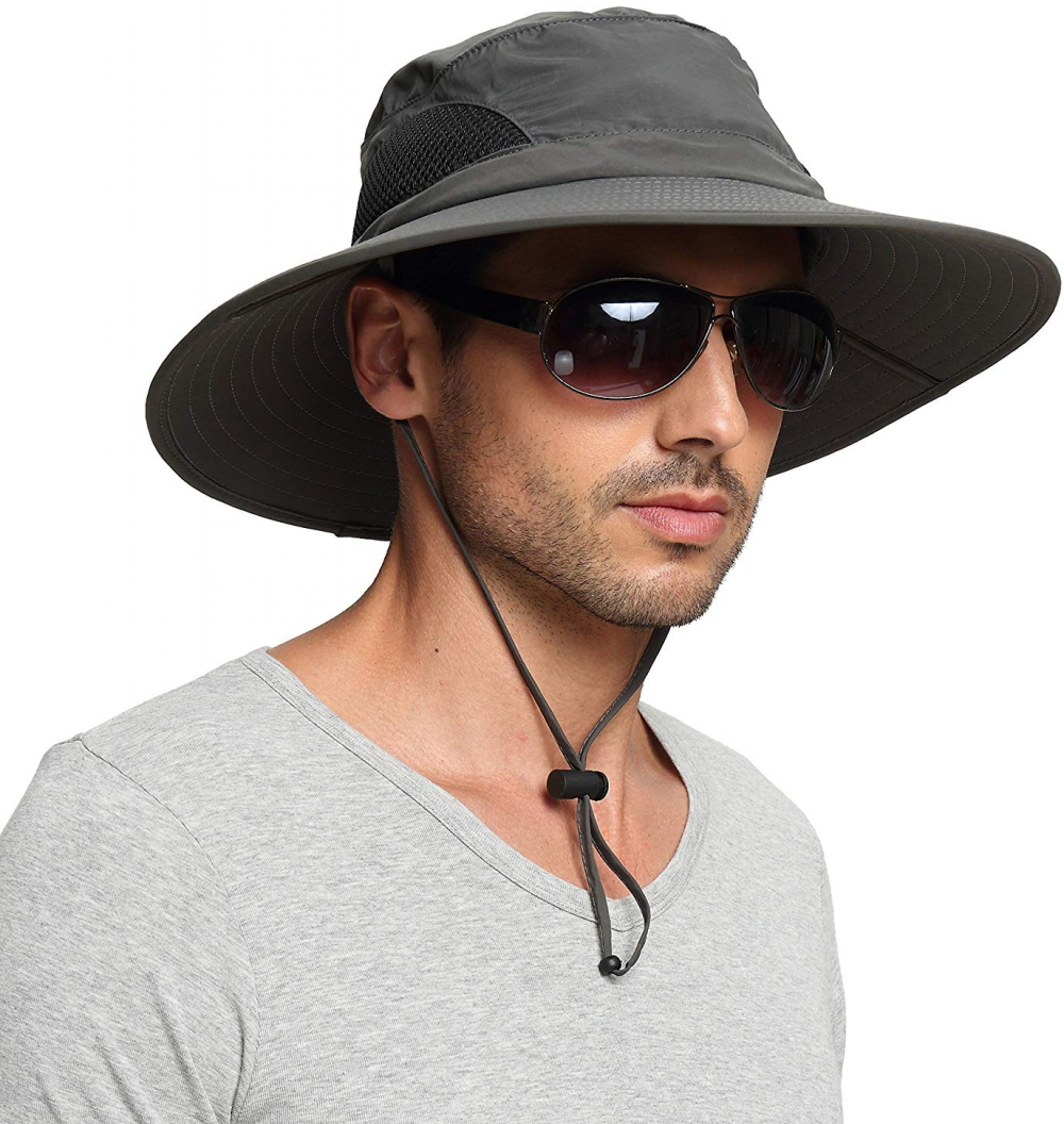 767131a0 EINSKEY Sun Hats for Men, Unisex UV Protection Wide Brim Bucket Hat Foldable  Waterproof Outdoor Boonie Cap for Safari Fishing Boating Hunting Hiking  Camping
