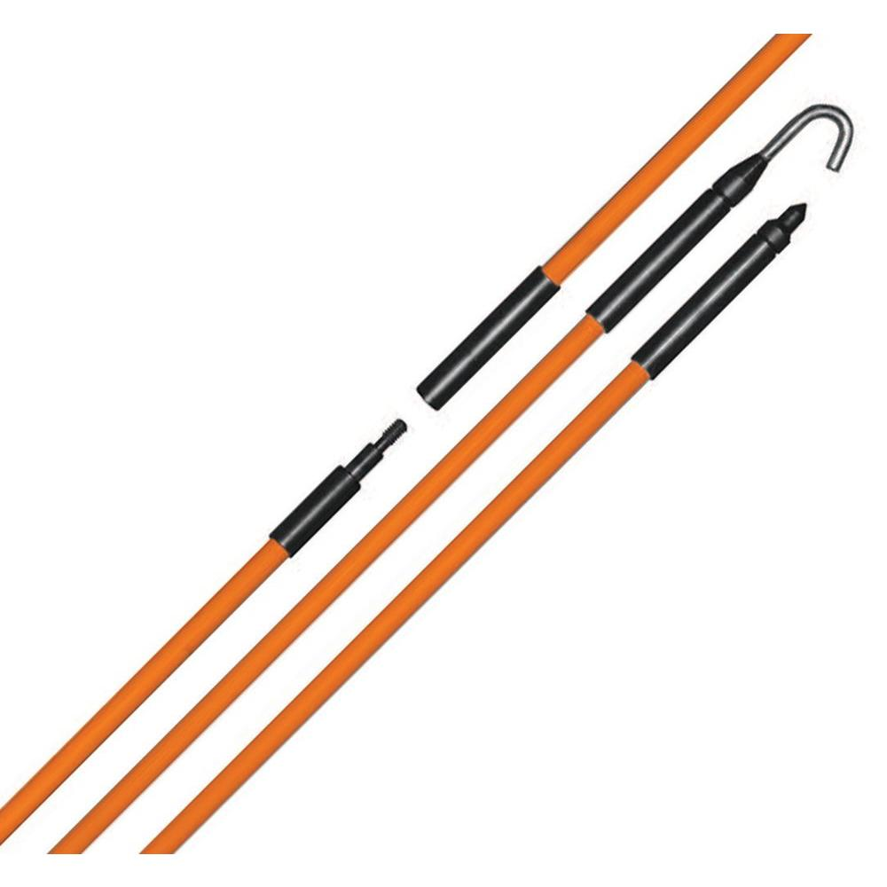 CMD telescoping 16 ft standard fiber glass pulling pole for wire /& cable.