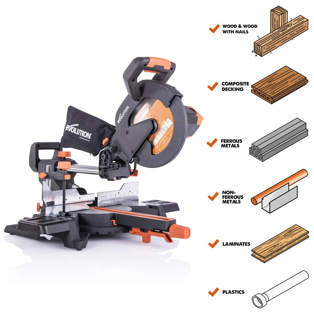 Electric Miter Saw Sliding Cutter Blade Aluminum Handle Durable Heavy Duty