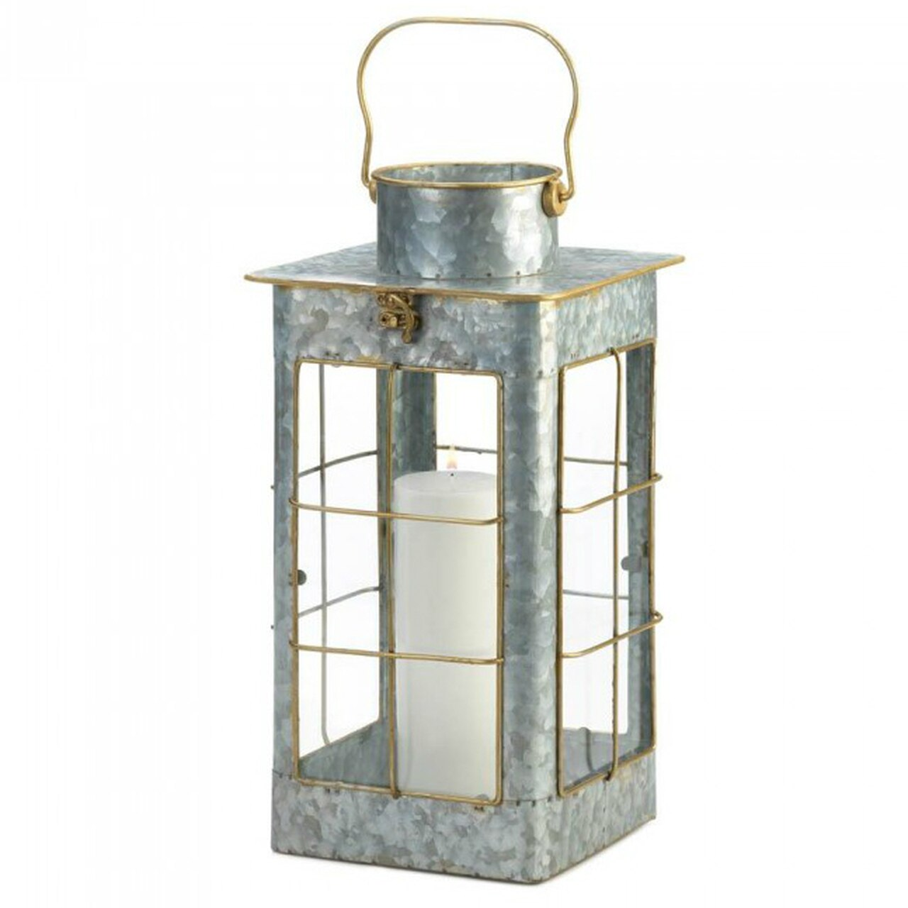 Rustic Galvanized Metal 17 Candle Lantern Farmhouse Style Home Decor Decoration Ebay