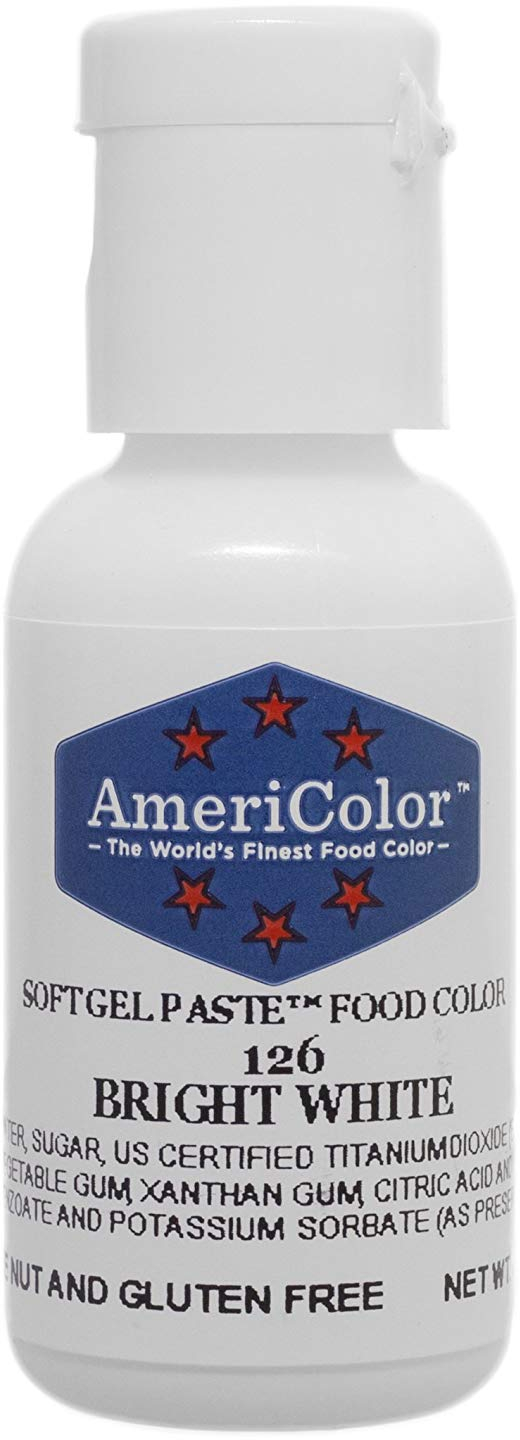 Food Coloring AmeriColor - Bright White Soft Gel Paste, .75 Ounce ...