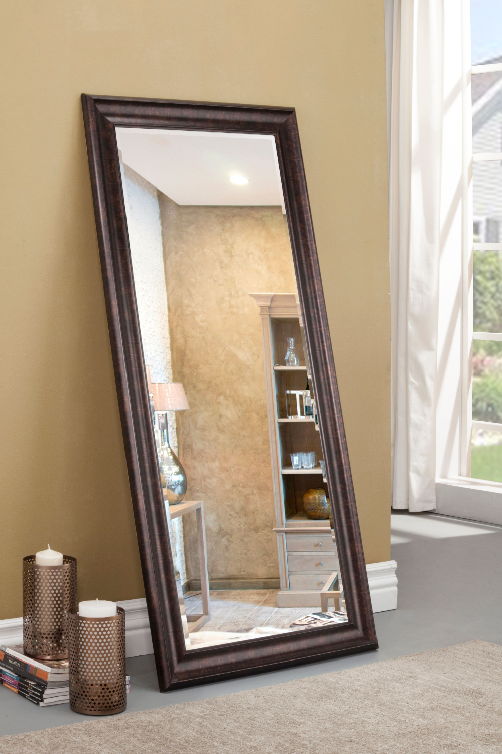 Large Full Body Mirror Wall Leaning Floor Living Room ...