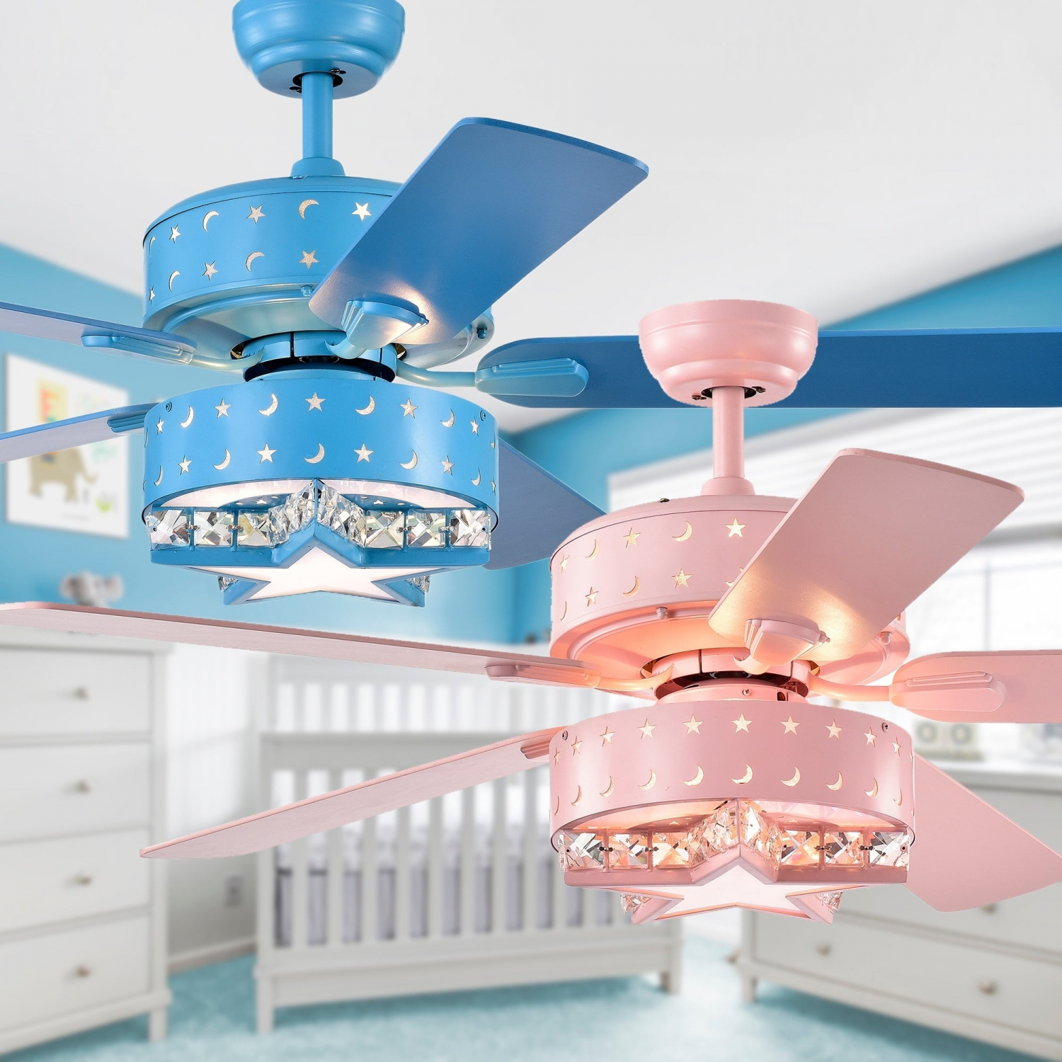 Childrens Room Lighted Ceiling Fan