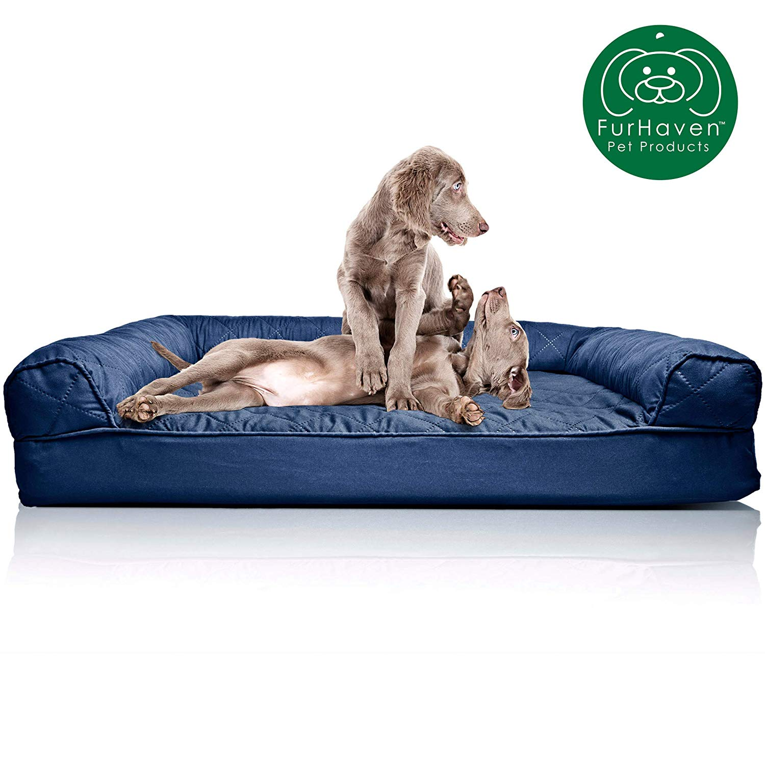 Terrific Details About Furhaven Pet Dog Bed Orthopedic Quilted Sofa Style Couch Pet Bed For Dogs And Bralicious Painted Fabric Chair Ideas Braliciousco