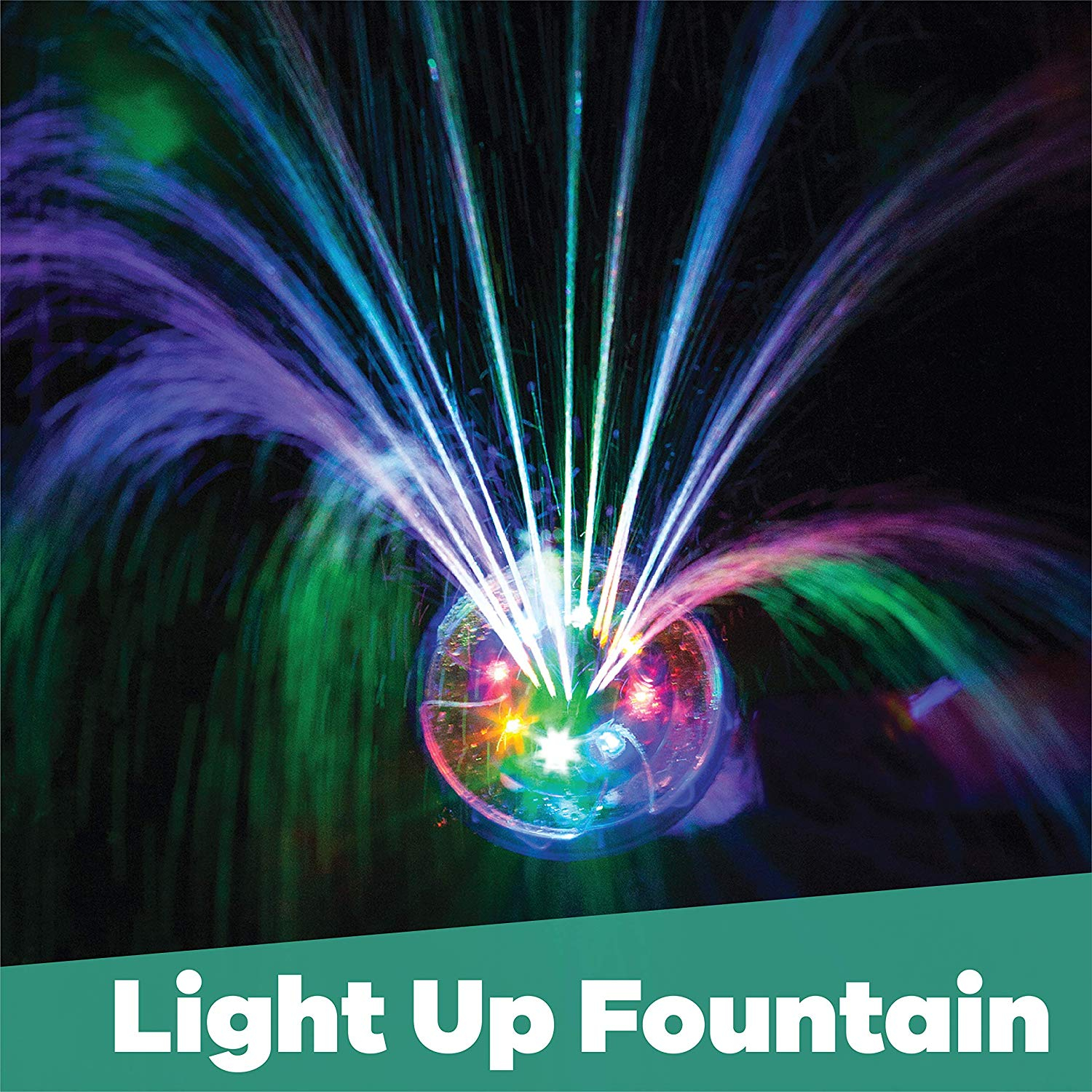 Details about Swimming Pool Lights Underwater Floating Fountain Waterfall  LED Auto Shut-Off