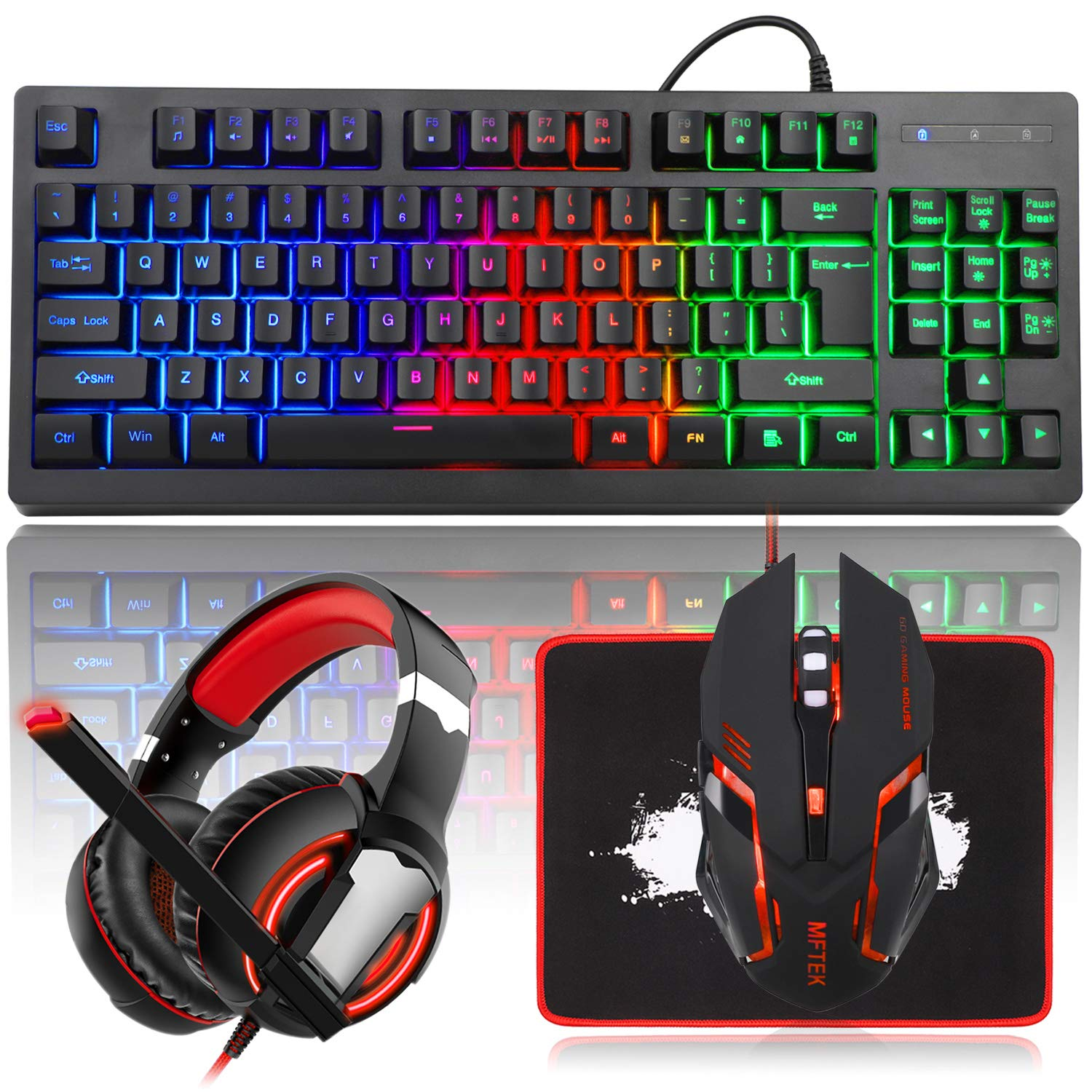 Gaming Mouse Keyboard And Headset Bundle