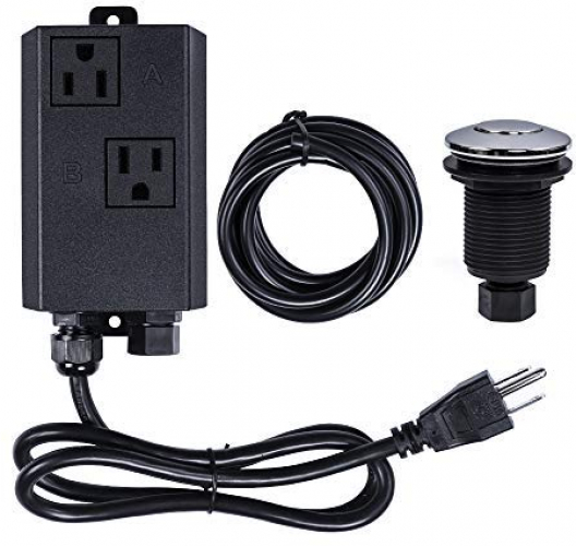 Garbage Disposal Air Switch Kit Dual Outlet Sink Top Waste