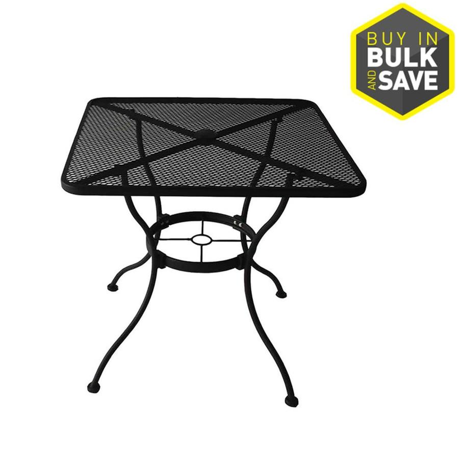 Details About Square Dining Bistro Patio Table With Umbrella Hole Backyard Home 30 W X L