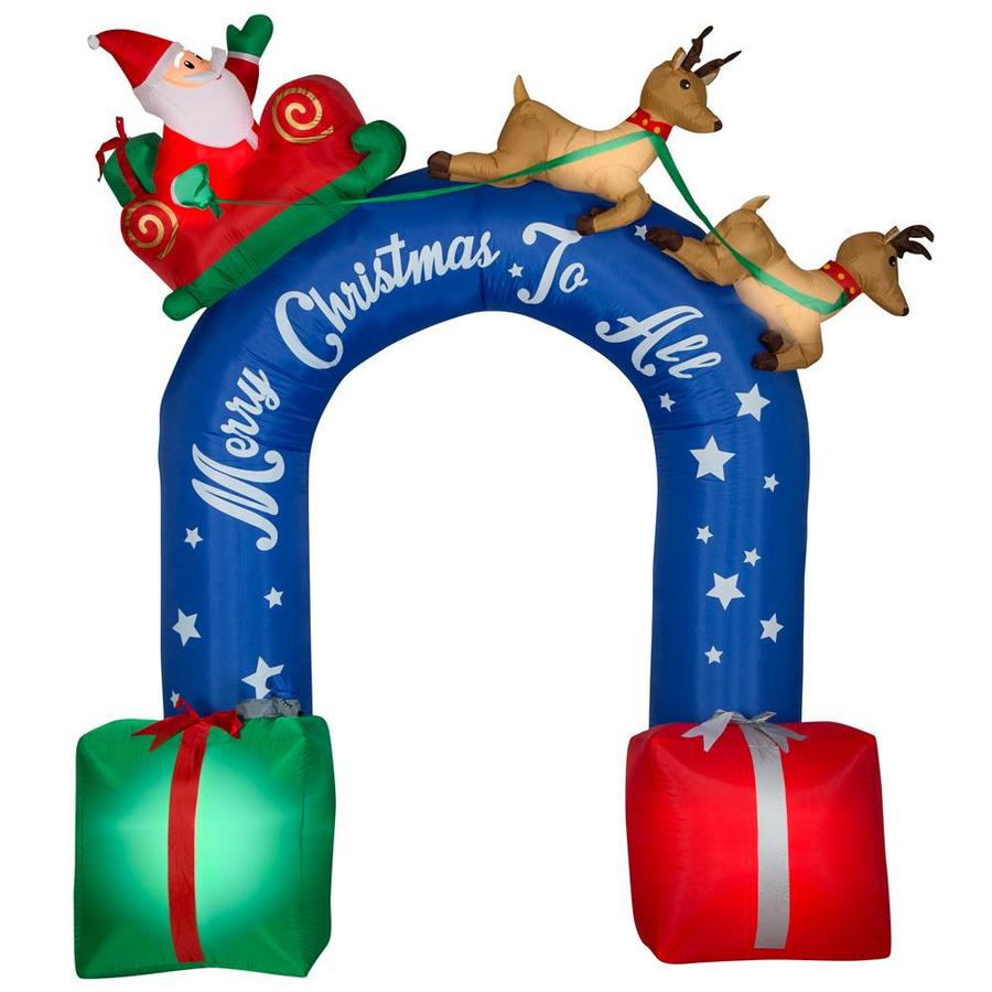 Christmas Inflatable Gemmy Archway Outdoor Large Xmas Blow