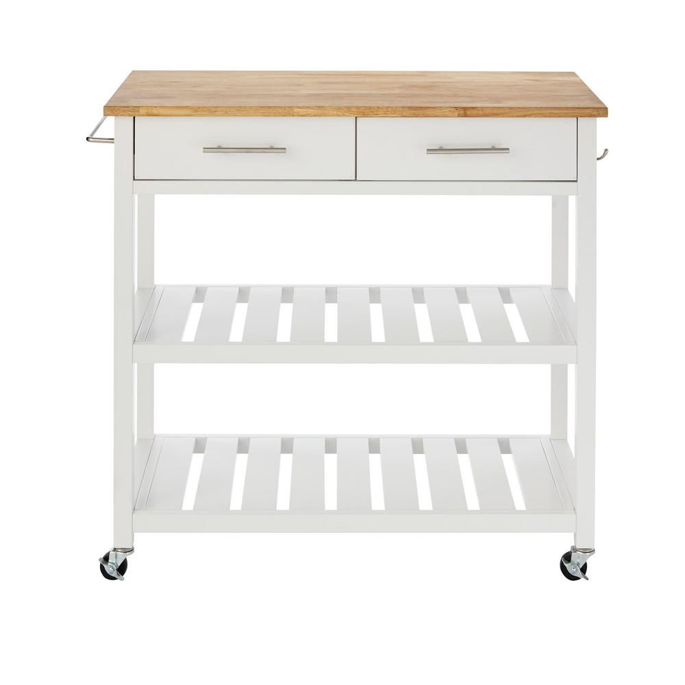 Details About Kitchen Island Cart Shelf Storage Drawer Rolling Wheels Shelves Rack White Home