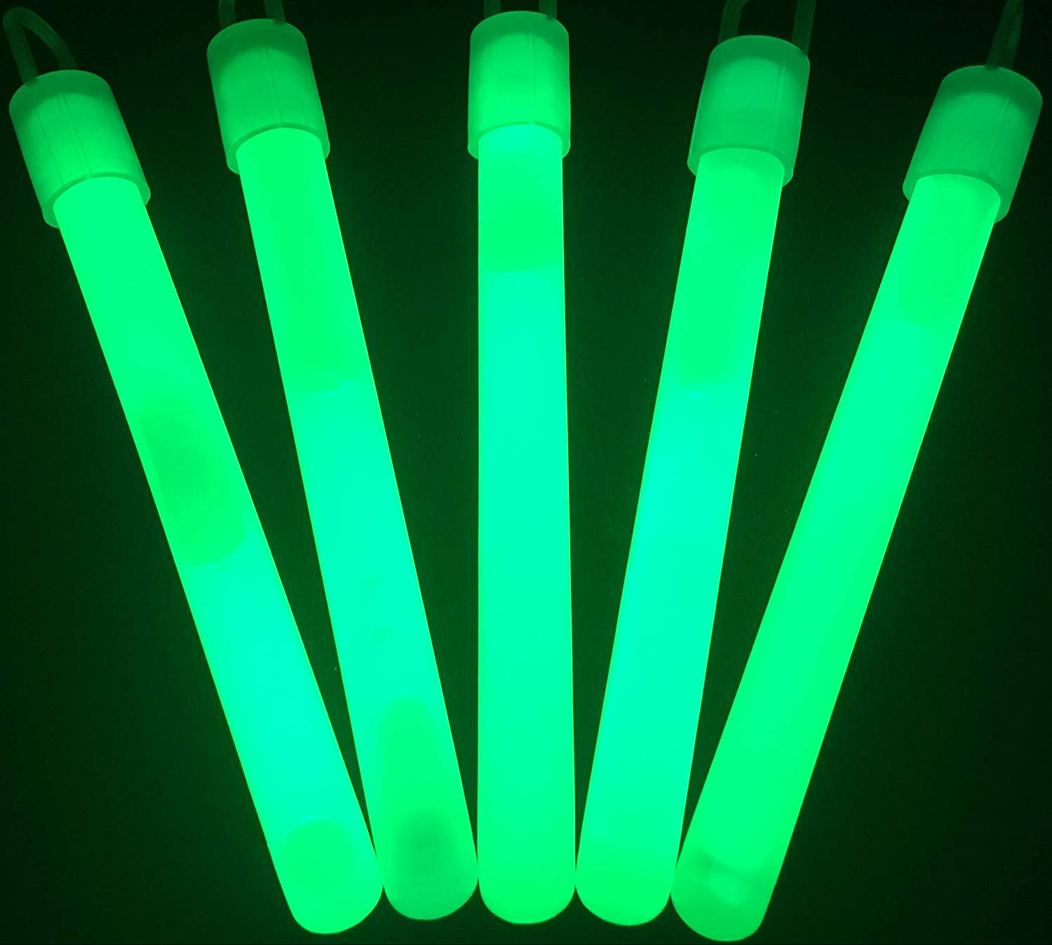 "50 4/"" Glow Light Sticks Glowsticks GREEN for Rave Party"