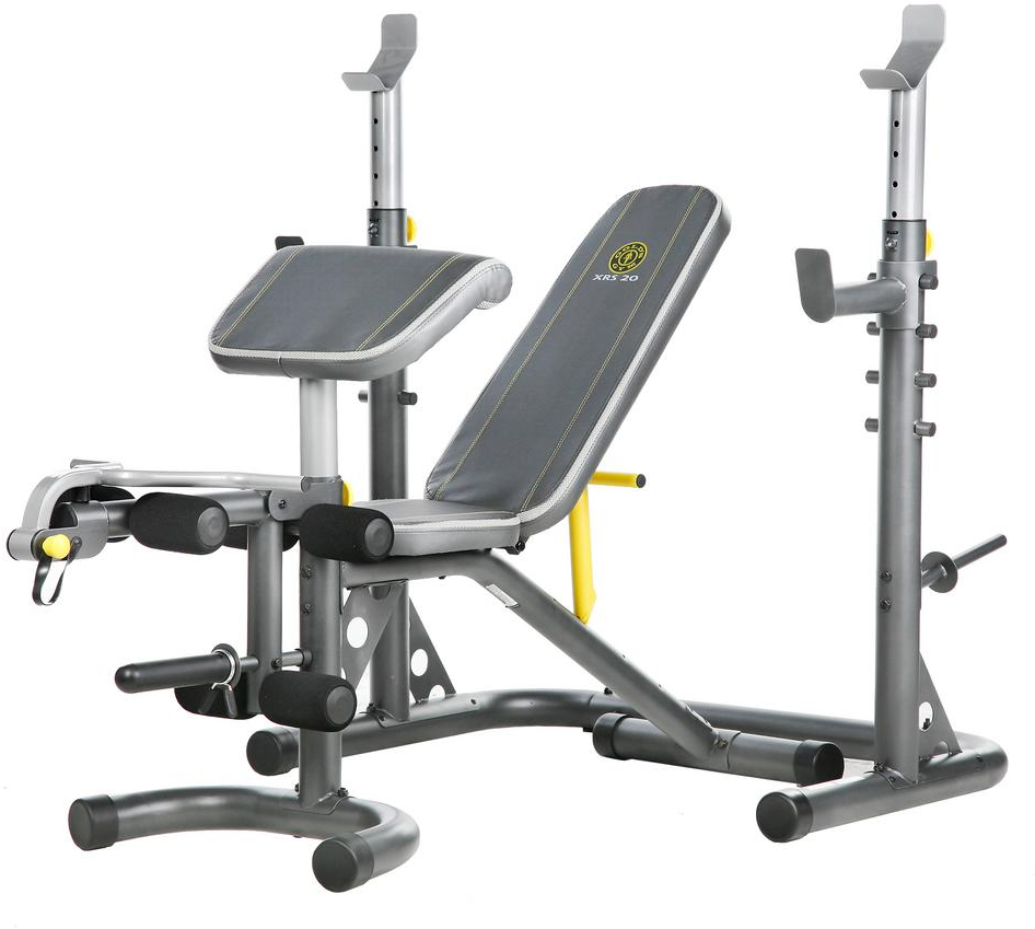 Awesome Details About Golds Gym Xrs20 With Squat Rack Weight Lifting Bench Press Exercise Workout New Bralicious Painted Fabric Chair Ideas Braliciousco