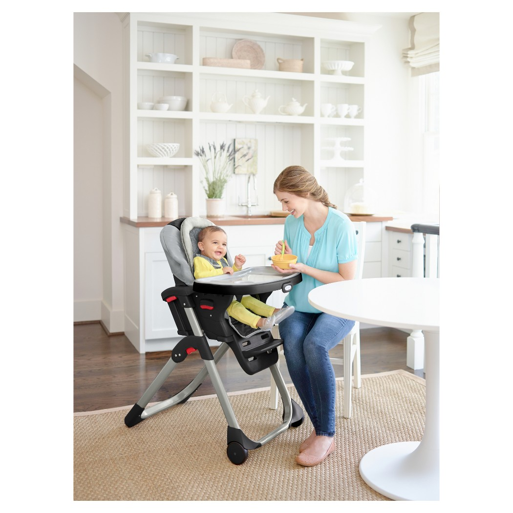 Details About Graco Duodiner 3 In 1 Convertible High Chair Asher 5 Levels Reclining Seat New