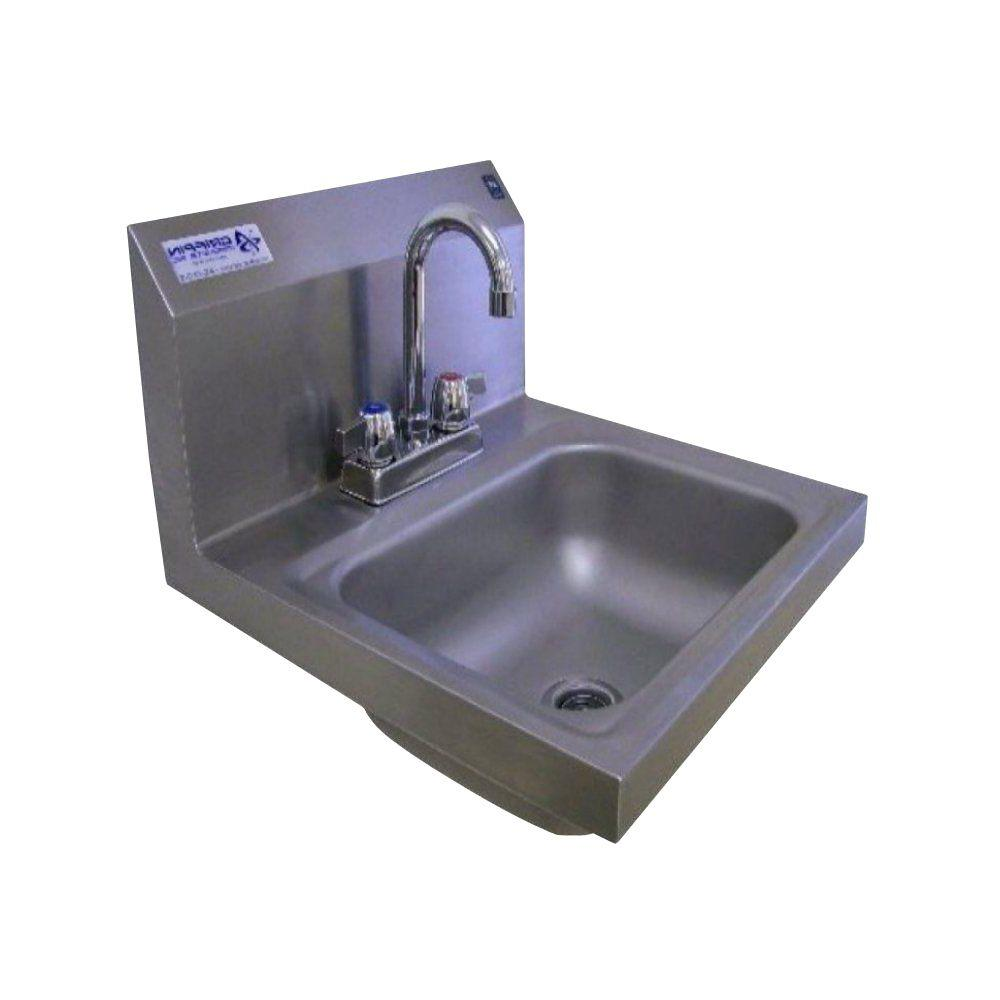 Details about Single Bowl Kitchen Sink Stainless Steel Strainer Basket Wall  Mount Rectangle