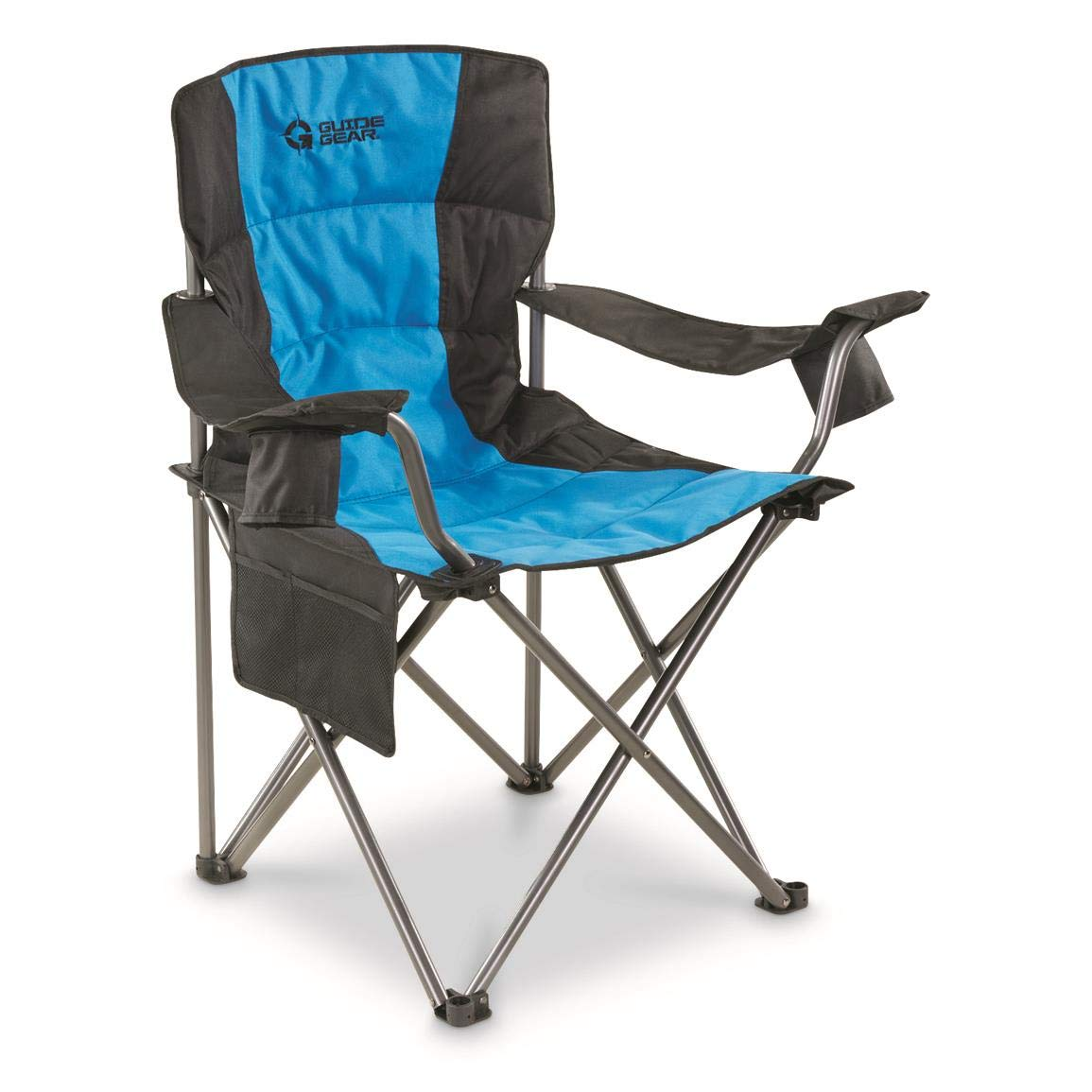 Details About 500 Lb Heavy Duty Oversized Folding Camping Chair Xl Large Cup Holder Padded