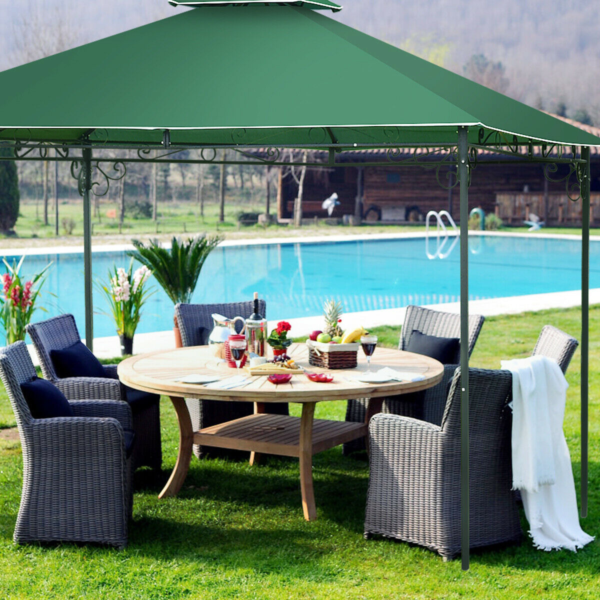 Delicieux Patio Tent Canopy Backyard Sunshade 10 X 10 Gazebo Outdoor Shelter Party  Shade