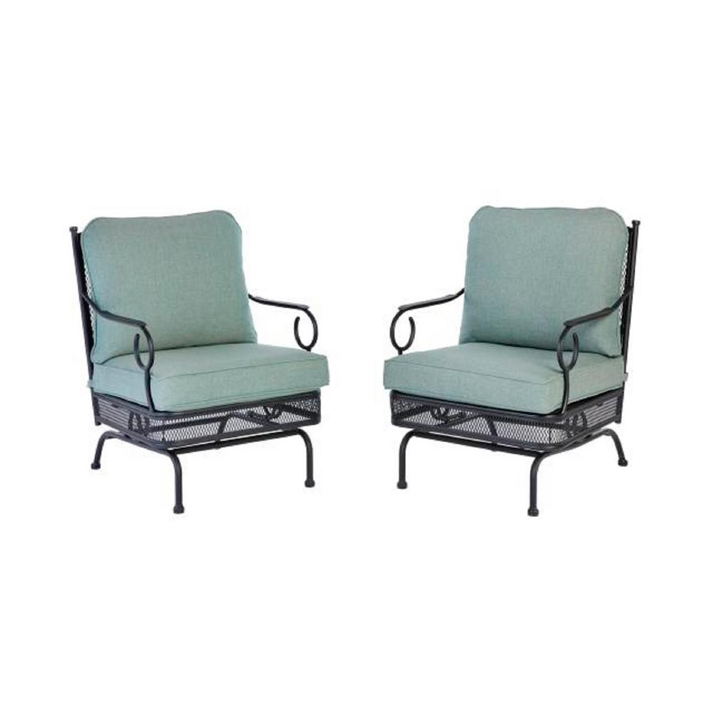 Excellent Details About Hampton Bay Rocking Outdoor Lounge Chair Cushions Patio Furniture 2 Pack Caraccident5 Cool Chair Designs And Ideas Caraccident5Info