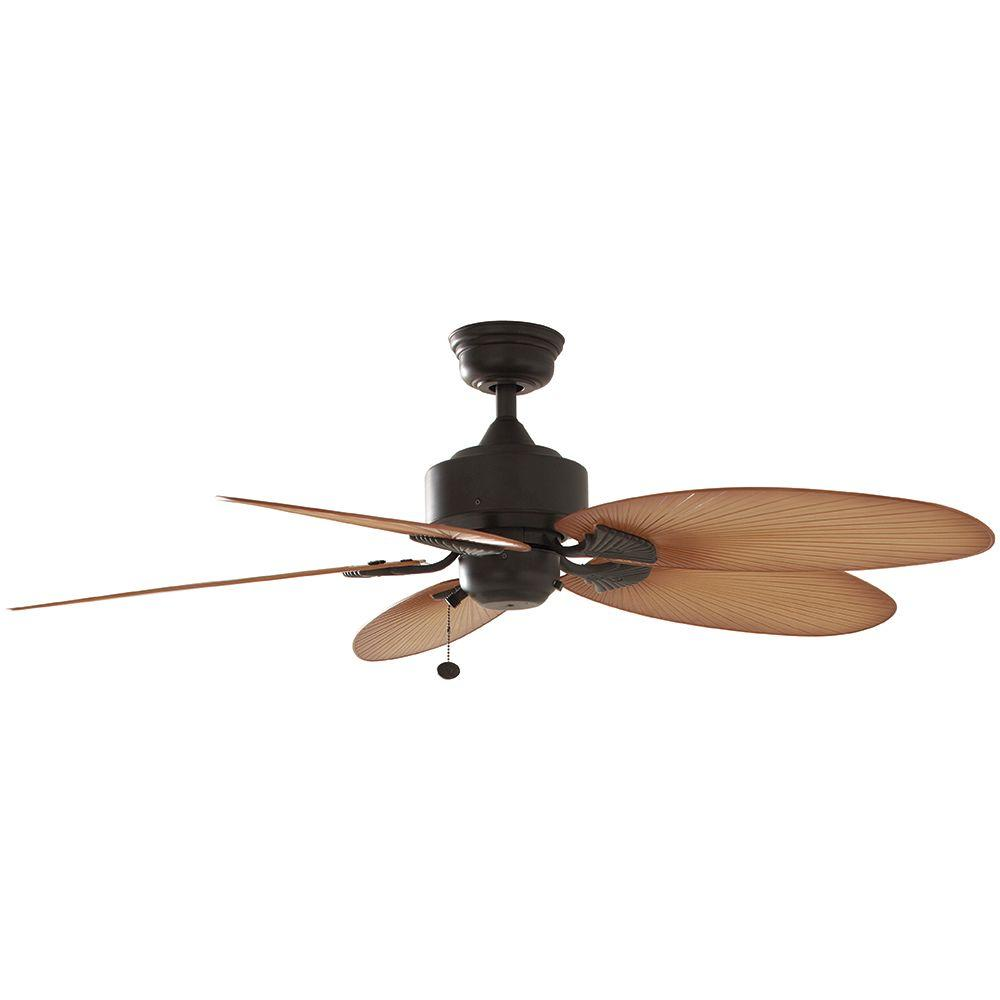 Details About Hampton Bay Ceiling Fan 52 In 5 Blade 3 Sd Light Kit Adaptable Aged Bronze