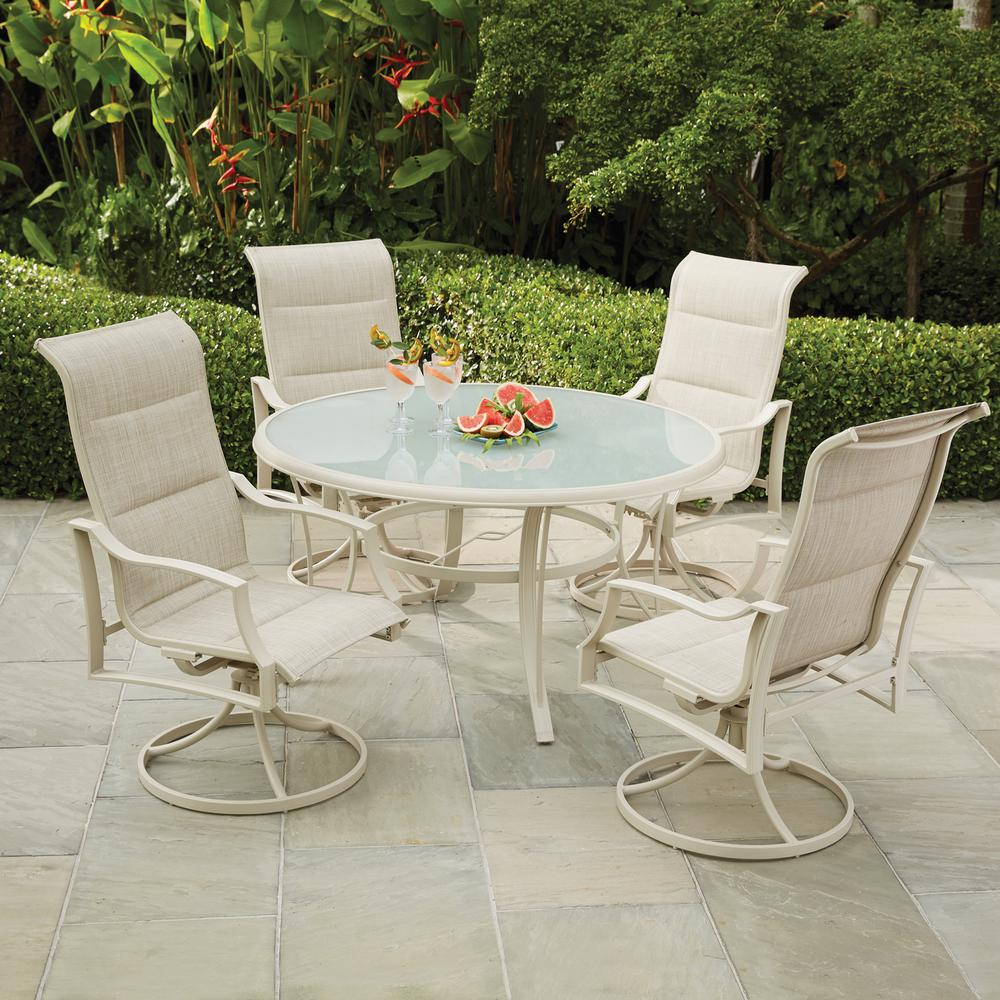 5 Piece Patio Dining Sets With Swivel Chairs