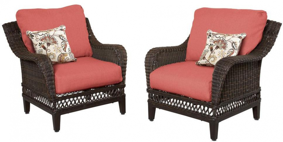 Admirable Details About Patio Lounge Chair With Chili Cushion 2 Pack Woodbury Wicker Outdoor Furniture Download Free Architecture Designs Xoliawazosbritishbridgeorg