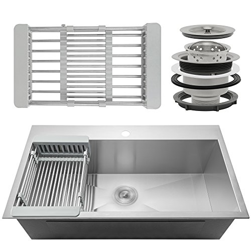 Details about Handmade Stainless Steel Kitchen Sink Single Bowl Top Mount  FregaderoPara Cocina