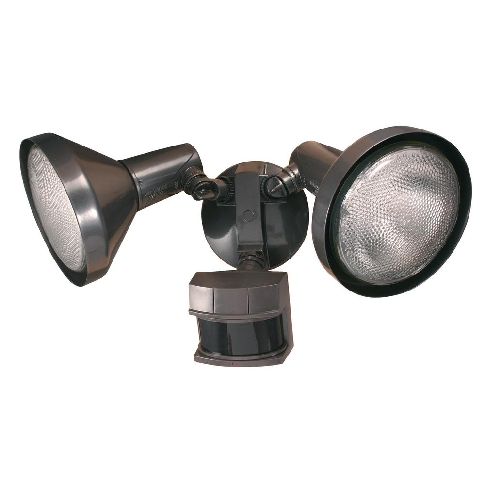Details About Heath Zenith Outdoor Flood Light Motion Sensor Activated 240 Degree Bronze Lamp
