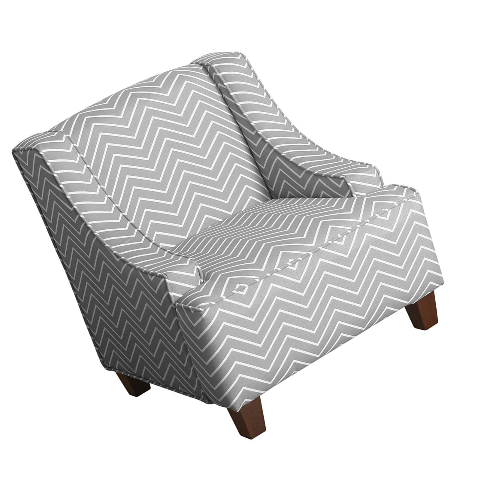 Cool Details About Homepop K6465 A795 Youth Upholstered Swoop Arm Accent Chair Grey And White Bralicious Painted Fabric Chair Ideas Braliciousco