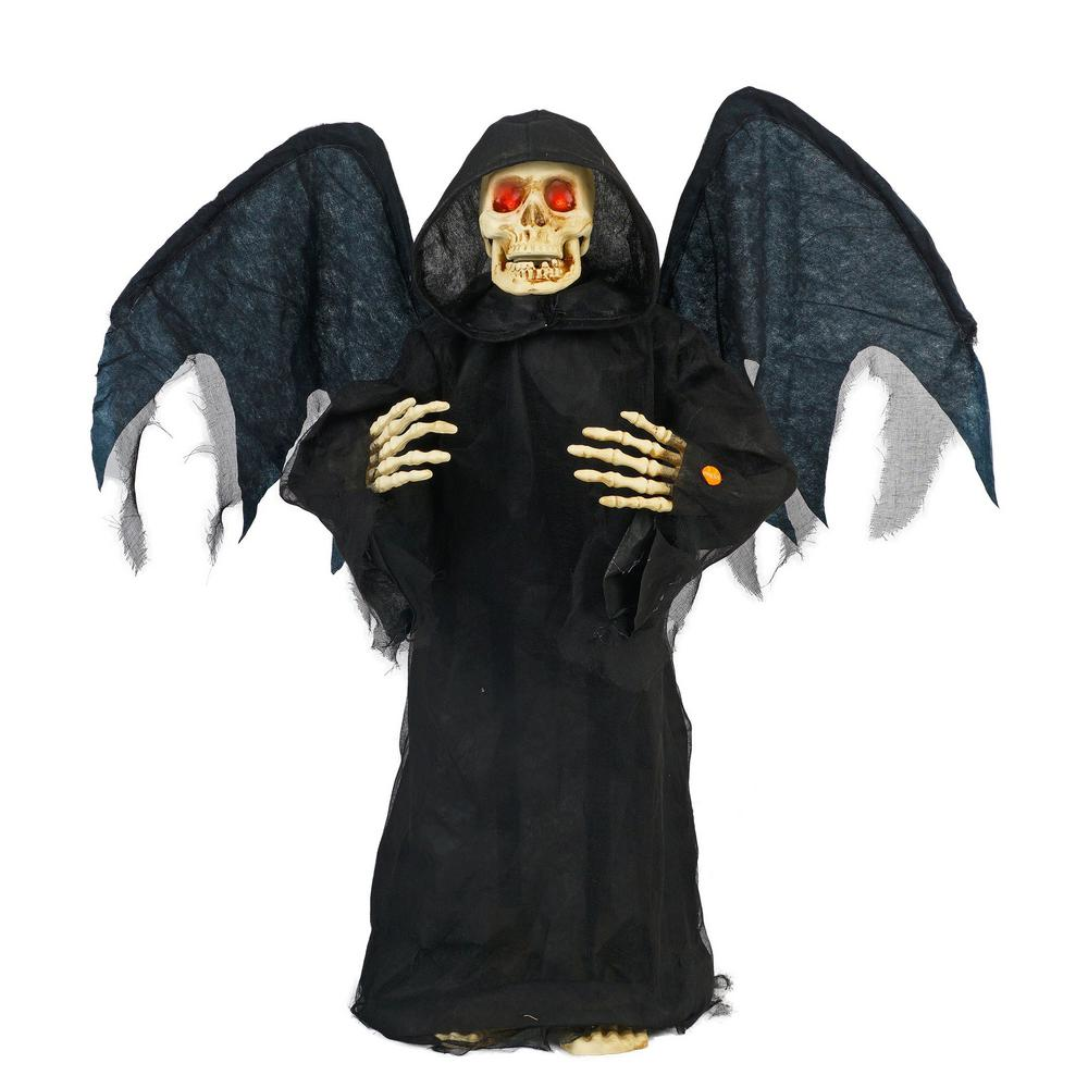 Angel Of Death 2017 details about home accents holiday halloween angel of death standing decor  lighted eyes 36 in
