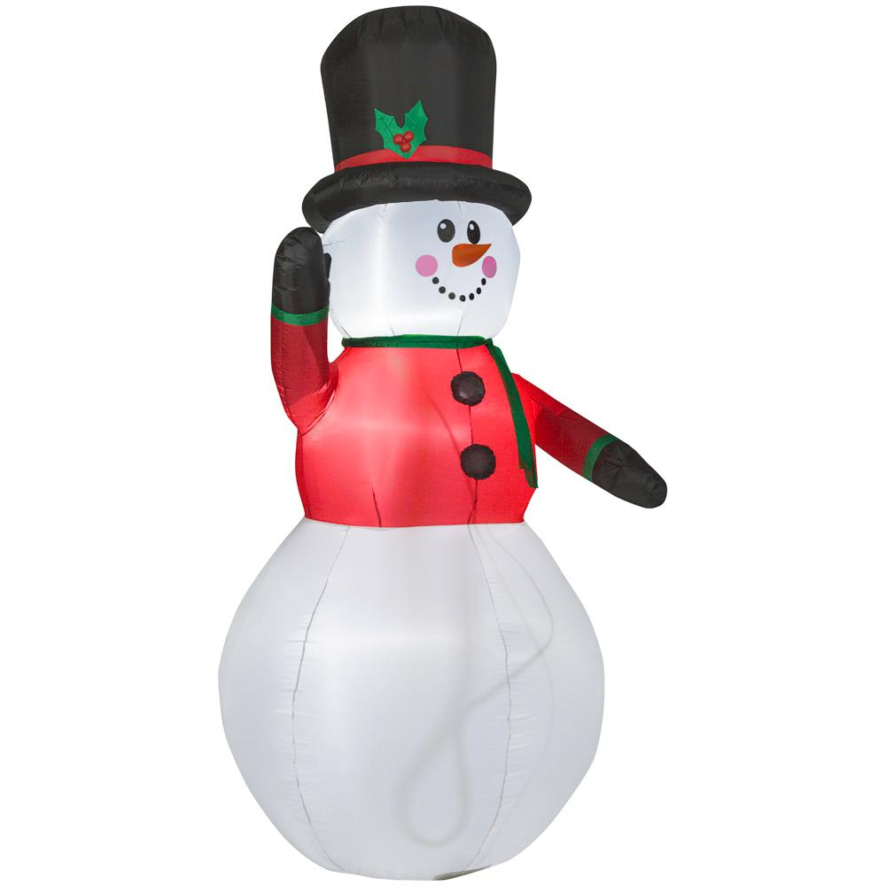 Home Accents Holiday Christmas Inflatable Decor Snowman ...