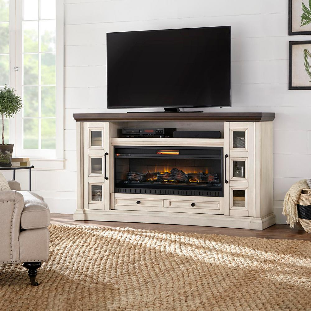 Fireplace Tv Stand 72 Infrared Led Flame Height Console Heater