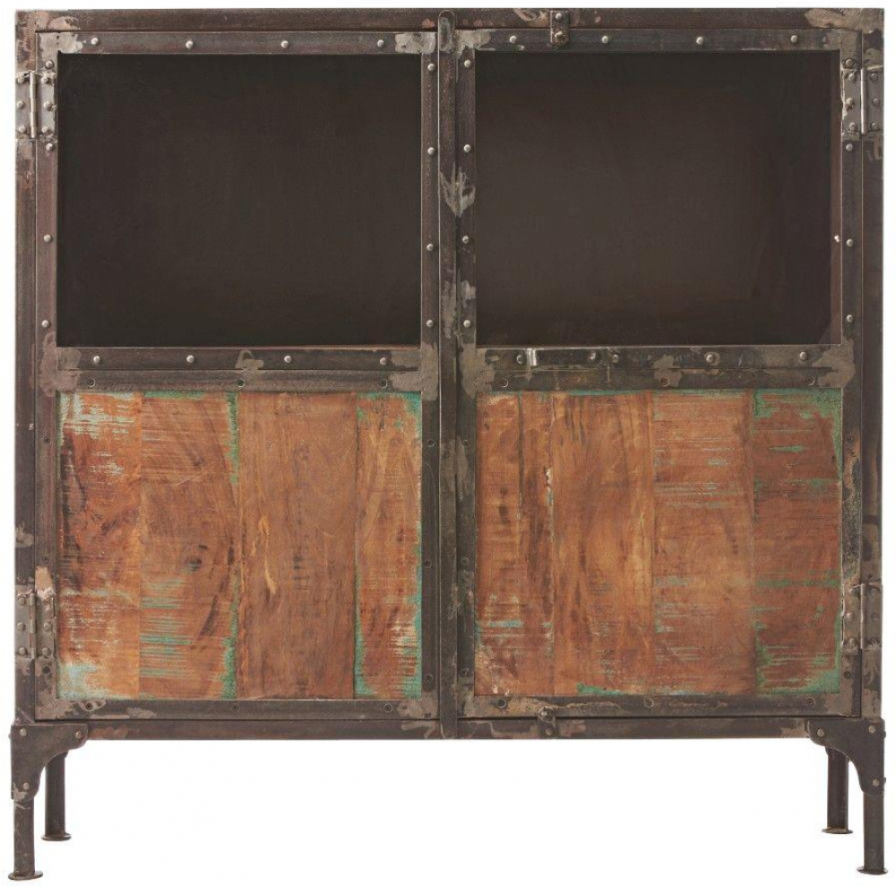Home Decorators Collection Buffet Easy View Natural Mango Wood Metal