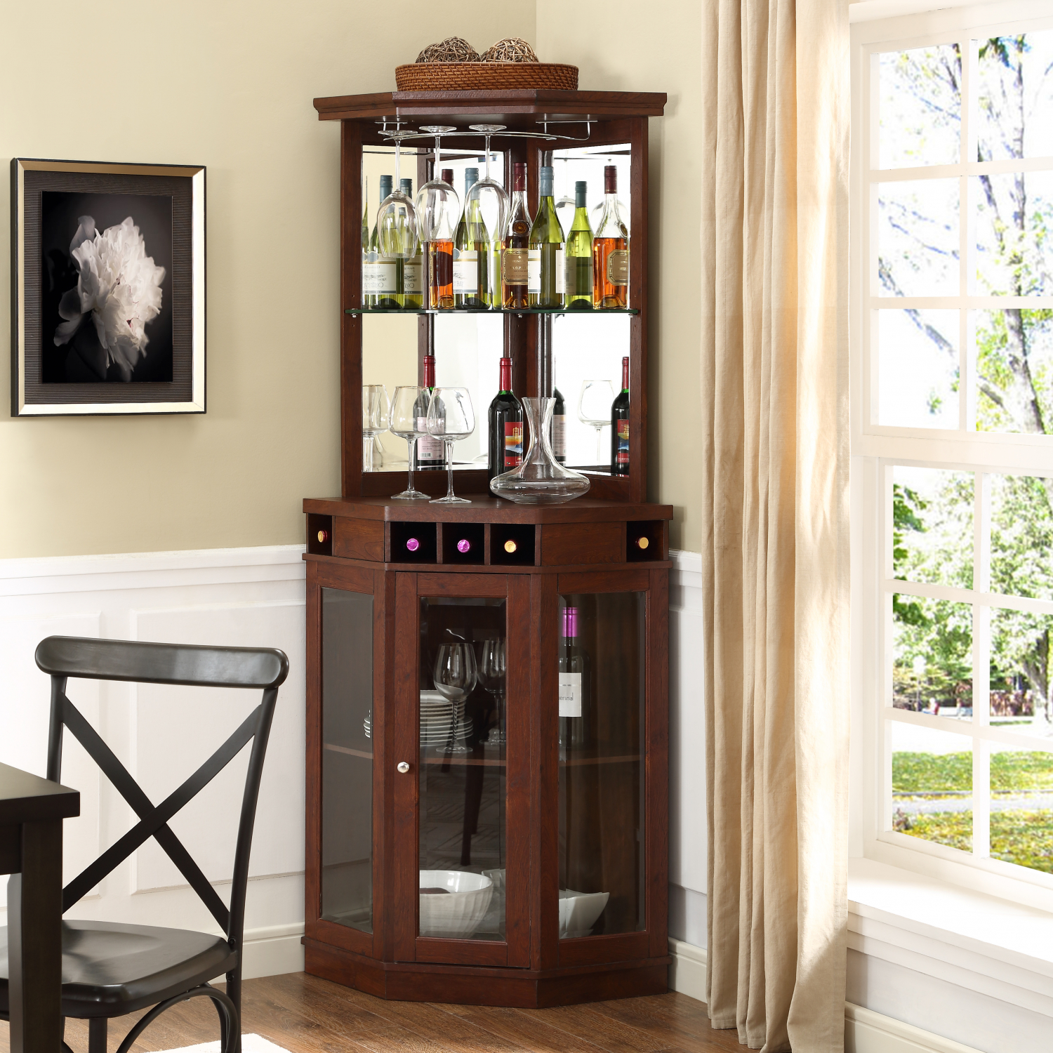 Details About Mini Bars Liquor Cabinet Whiskey Cabinets Wine Storage Wooden Home Bar Furniture