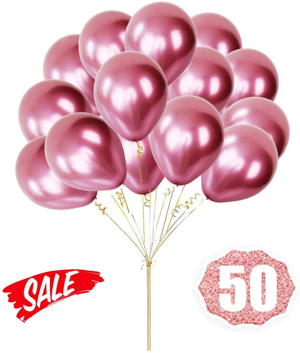 """Pack of 50-12"""" Standard Black Latex Balloons for Birthday Decoration Party"""