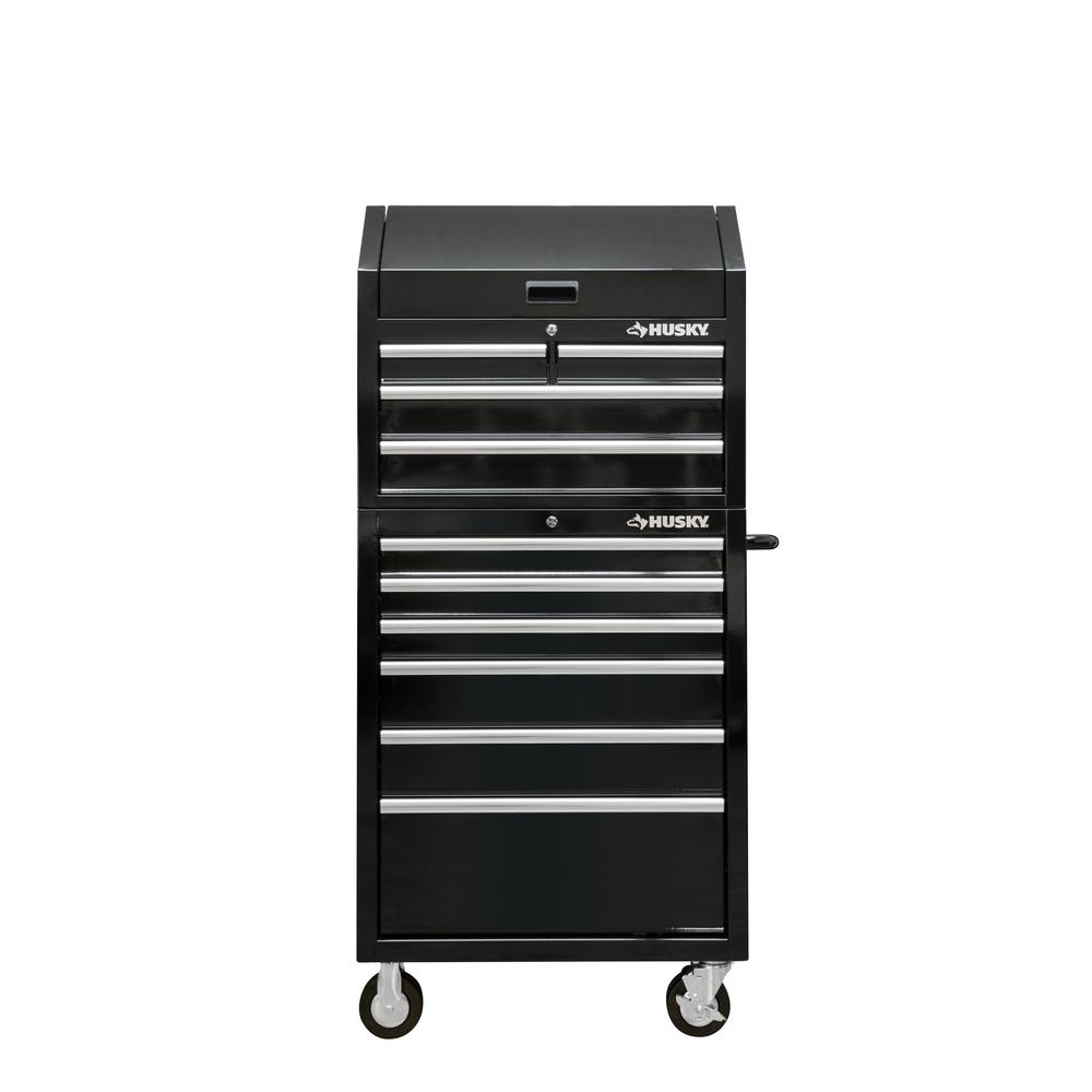 Husky Tool Cart >> Details About Husky 30 In W 10 Drawer Deep Combination Tool Chest And Rolling Cabinet Set In